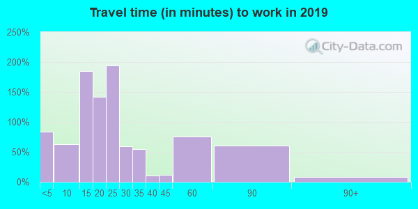 61062 zip code travel time to work (commute)