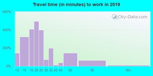 61252 zip code travel time to work (commute)