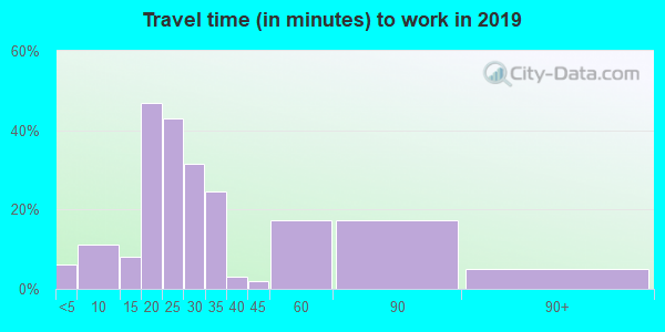 61312 zip code travel time to work (commute)