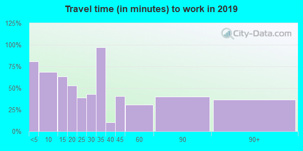 61377 zip code travel time to work (commute)