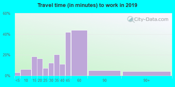 61816 zip code travel time to work (commute)