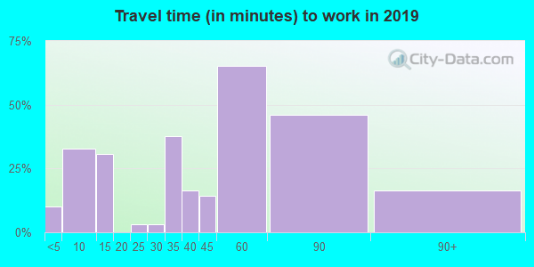 62036 zip code travel time to work (commute)