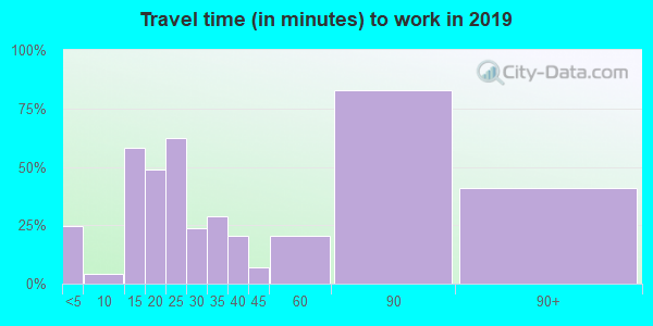 62241 zip code travel time to work (commute)