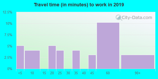 63824 zip code travel time to work (commute)