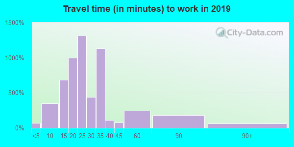64132 zip code travel time to work (commute)