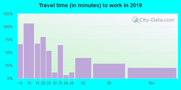 65236 zip code travel time to work (commute)