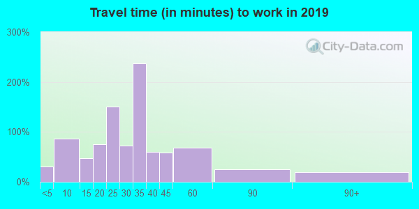 65243 zip code travel time to work (commute)
