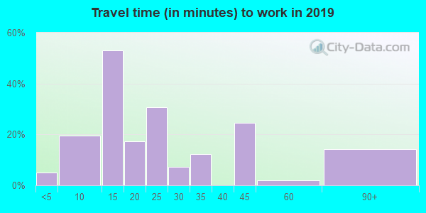 65250 zip code travel time to work (commute)