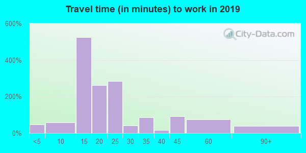 65259 zip code travel time to work (commute)