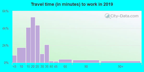 65802 zip code travel time to work (commute)