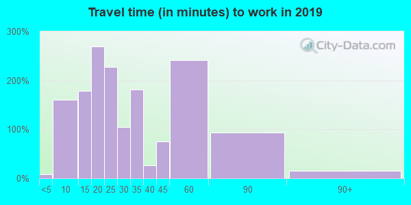 70788 zip code travel time to work (commute)