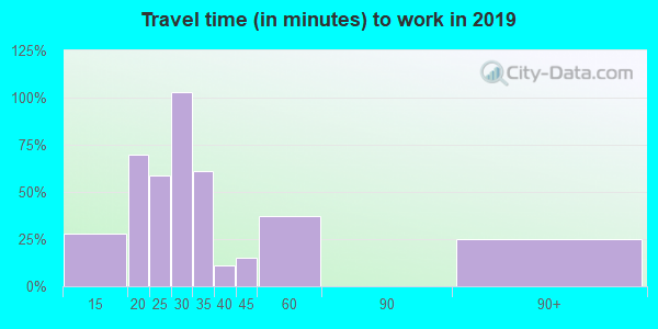 71838 zip code travel time to work (commute)