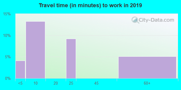 72005 zip code travel time to work (commute)