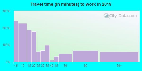 72101 zip code travel time to work (commute)