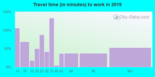 73029 zip code travel time to work (commute)