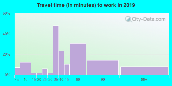 74060 zip code travel time to work (commute)