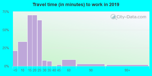 74565 zip code travel time to work (commute)