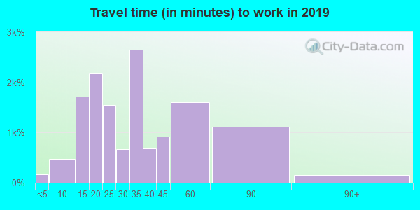 75041 zip code travel time to work (commute)
