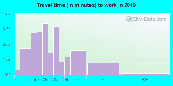 75081 zip code travel time to work (commute)