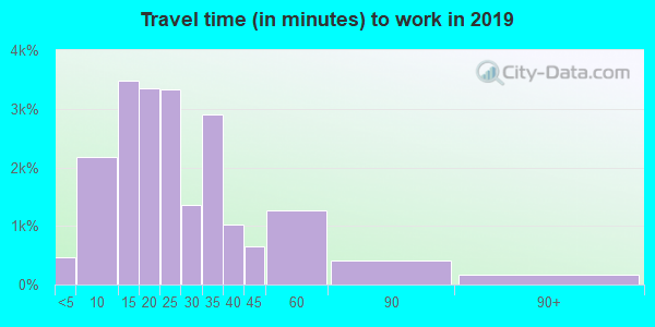 75204 zip code travel time to work (commute)