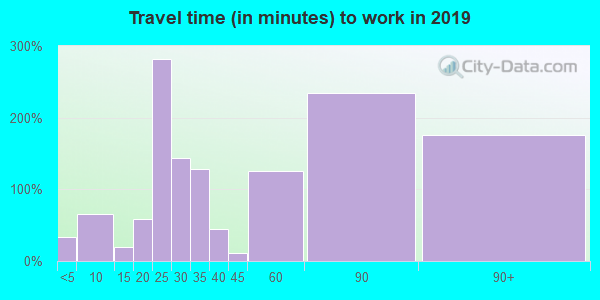 75453 zip code travel time to work (commute)