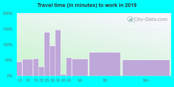 75681 zip code travel time to work (commute)