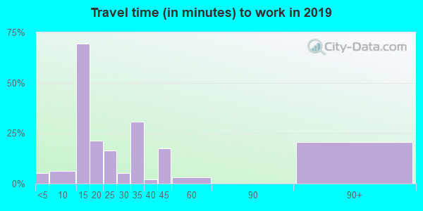 76864 zip code travel time to work (commute)