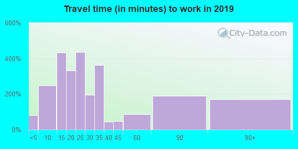 79901 zip code travel time to work (commute)