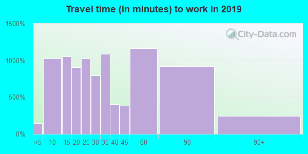 80132 zip code travel time to work (commute)