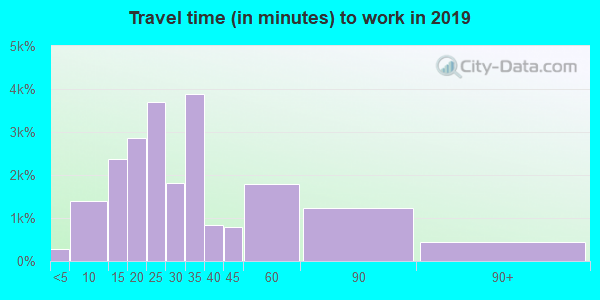 80221 zip code travel time to work (commute)