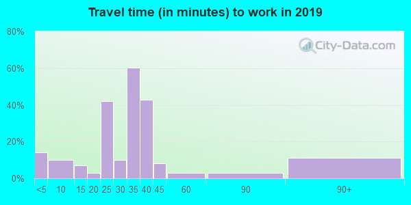 81025 zip code travel time to work (commute)