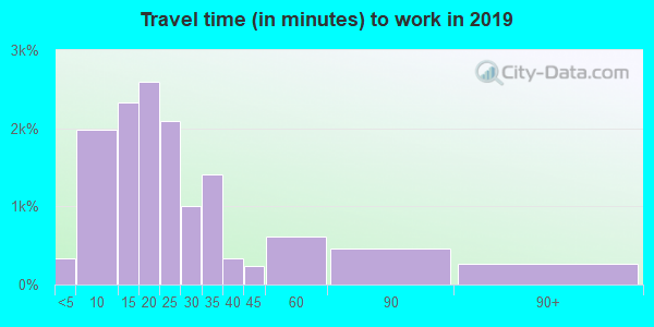 84663 zip code travel time to work (commute)