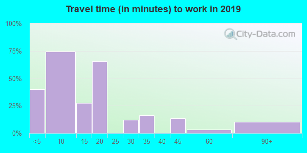 Travel time to work (commute) in zip code 85347