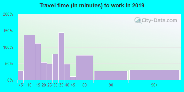 88232 zip code travel time to work (commute)