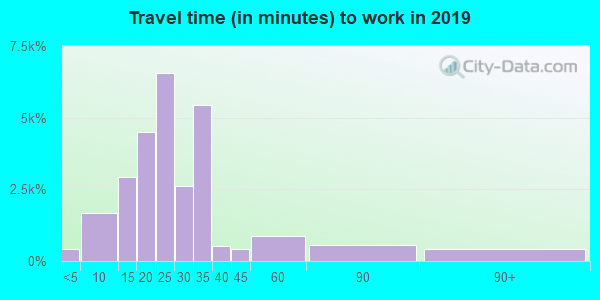 89117 zip code travel time to work (commute)