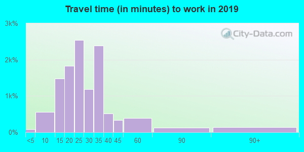 89135 zip code travel time to work (commute)