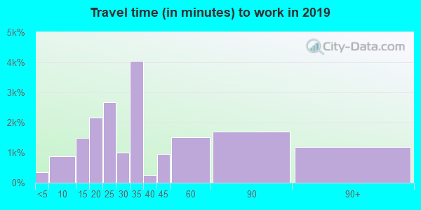 90031 zip code travel time to work (commute)
