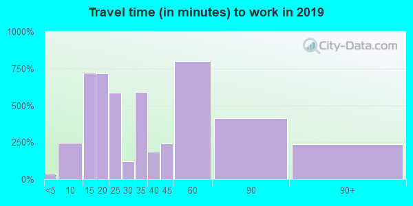 91207 zip code travel time to work (commute)