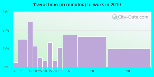 91355 zip code travel time to work (commute)