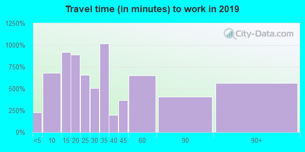 95602 zip code travel time to work (commute)