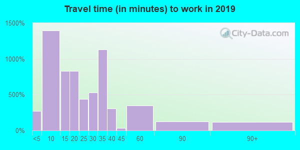 96021 zip code travel time to work (commute)