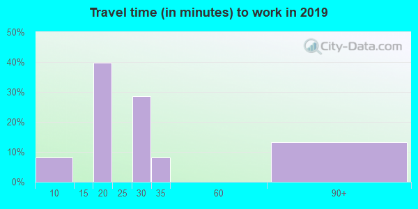 96121 zip code travel time to work (commute)