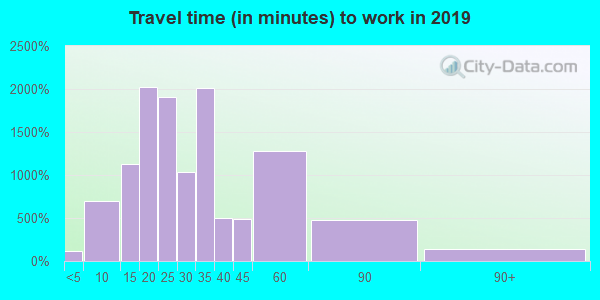 98199 zip code travel time to work (commute)