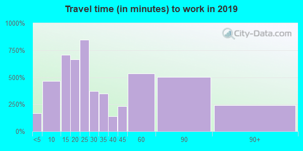 98390 zip code travel time to work (commute)