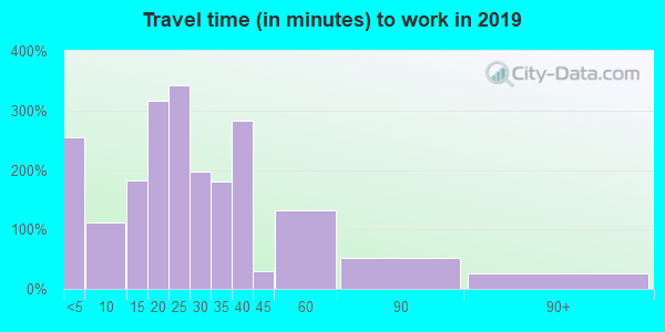 99141 zip code travel time to work (commute)