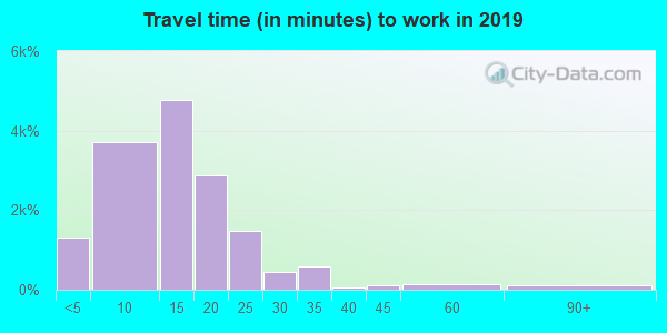 99163 zip code travel time to work (commute)