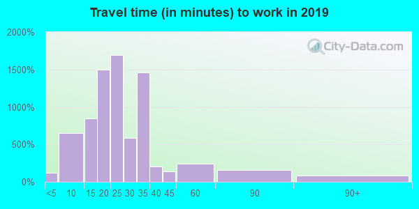 99217 zip code travel time to work (commute)