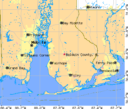 Baldwin County, AL map