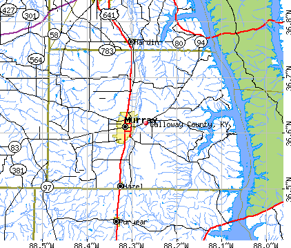 Calloway County, KY map