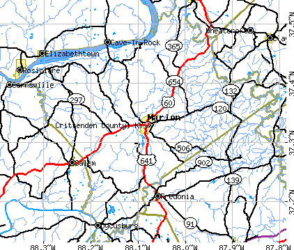 Crittenden County, KY map